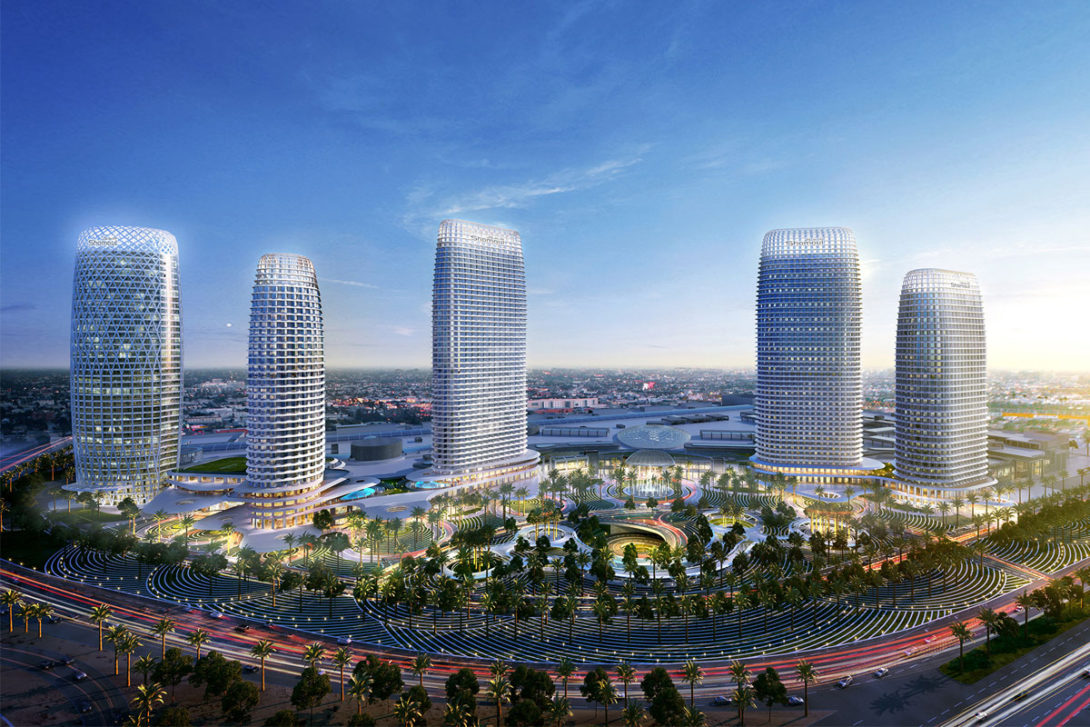 The Avenues Riyadh embodies the success of The Avenues in Kuwait, with its districts and unique design, making it the best destination for shopping, entertainment and even residing in Saudi Arabia. The project extends across 390,000 m2 and is located at a prime position overlooking King Salman Road and Kind Fahad Road. The project's leasable area is 400,000 m2 and will be one of the largest commercial malls in the Middle East which will include a souk. Part of the project will consist of a number of towers that include two hotels - 5 star and 4 star, residential apartments, offices and parking for 14,000 vehicles.